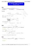 Luyện thi Đại học môn Toán: Phương trình có tham số - Thầy Đặng Việt Hùng