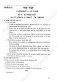 Giải bài tập Vật lý 10 cơ bản: Chương 5 - Nhiệt học