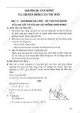 Giải bài tập Vật lý 10 cơ bản: Chương 3: Cân bằng