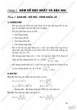 Phân loại và phương pháp giải các dạng toán Đại số 10: Hàm số bậc nhất và bậc 2
