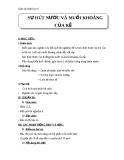 Giáo án Sinh học 6 bài 11: Sự hút nước và muối khoáng của rễ