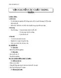 Giáo án Sinh học 6 bài 17: Vận chuyển các chất trong thân