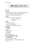 Giáo án Sinh học 6 bài 18: Biến dạng của thân