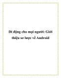 Di động cho mọi người: Giới thiệu sơ lược về Android