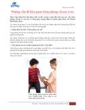 Những vấn đề liên quan tiêm phòng vắcxin ở trẻ