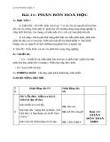 Giáo án bài 11: Phân bón hóa học - Hóa 9 - GV.N Phương