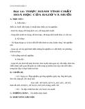Giáo án bài 14: Thực hành tính chất hóa học của bazơ và muối - Hóa 9 - GV.N Phương