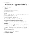 Giáo án Hóa học 9 bài 49: Thực hành - Tính chất của rượu và axit