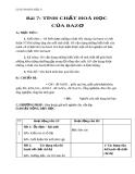 Giáo án bài 7: Tính chất hóa học của bazơ - Hóa 9 - GV.N Phương