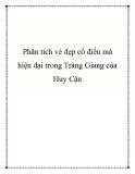 Phân tích vẻ đẹp cổ điển mà hiện đại trong Tràng Giang của Huy Cận