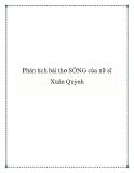 Bài văn mẫu lớp 9: Phân tích bài thơ Sóng của nữ sĩ Xuân Quỳnh