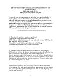 Đề thi thí nghiệm môn Sinh lớp 12 (phần thực hành) năm 2009