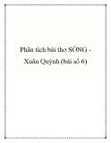 Bài văn mẫu lớp 9: Phân tích bài thơ Sóng Xuân Quỳnh (bài số 6)