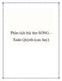 Bài văn mẫu lớp 9: Phân tích bài thơ Sóng Xuân Quỳnh (cực hay)