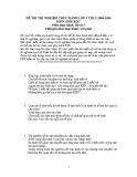 Đề thi thí nghiệm môn Sinh lớp 9 (phần thực hành) năm 2009
