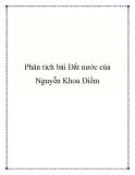 Bài văn mẫu lớp 12: Phân tích bài Đất nước của Nguyễn Khoa Điềm