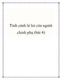 Tình cảnh lẻ loi của người chinh phụ (bài 4)