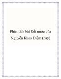 Phân tích bài Đất nước của Nguyễn Khoa Điềm
