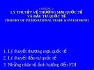 Bài giảng Quản trị kinh doanh quốc tế - Chương 2: Lý thuyết thương mại quốc tế và đầu tư quốc tế