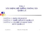 Bài giảng Hệ thống thông tin quản lý (ThS. Lê Thị Ngọc Diệp) - Chương 3: Thiết kế hệ thống thông tin quản lý