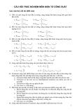 Câu hỏi trắc nghiệm môn điện tử công suất