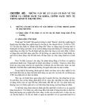 Chuyên đề: Những vấn đề lý luận cơ bản về tài chính và chính sách tài khóa, chính sách tiền tệ trong kinh tế thị trường