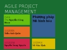 Bài thuyết trình Phương pháp mô hình hóa: Agile project management