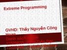 Bài thuyết trình: Extreme Programming