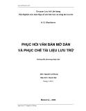 Phục hồi văn bản mờ dần và phục chế tài liệu lưu trữ - A.G. Kharitonov
