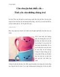 Truyện ngắn Câu chuyện hai chiếc cốc