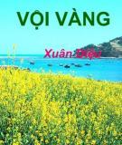 Tổng hợp 5 bài văn mẫu: Phân tích bài thơ Vội vàng của tác giả Xuân Diệu