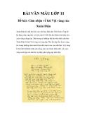 Bài văn mẫu lớp 11: Cảm nhận về bài Vội vàng của Xuân Diệu