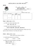 18 Đề thi giữa kỳ 2 môn Tiếng Việt lớp 1