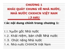 Bài giảng Pháp luật đại cương - Chương 1  Khái quát chung về nhà nước nhà nước CNXHCN Việt Nam