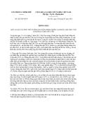 Thông báo 201/TB-VPCP