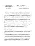 Thông báo 22/TB-TCTL năm 2013