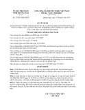 Quyết định số 27/2013/QĐ-UBND