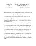 Quyết định số 01/2013/QĐ-UBND năm 2013