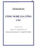 Giáo trình công nghệ gia công CNC - Trường CĐCN Việt Đức