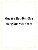 Quy tắc Hou-Ren-Sou trong làm việc nhóm