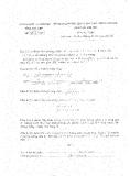 Đề thi tuyển sinh THPT chuyên môn Toán năm 2008 - Sở GD&ĐT Phú Yên