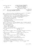 Đề thi tốt nghiệp môn Tin học trình độ A năm 2008 - Sở GD&ĐT Phú Yên (Lý thuyết)