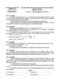 Đề thi tuyển sinh THPT chuyên môn Vật lý năm học 2008-2009 - Sở GD&ĐT Phú Yên
