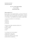 Đề thi thử môn Quản trị vận hành - Trường Đại học Mở TP. HCM