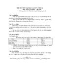 Đề thi thử Đại học môn Địa lý Khối C năm 2014 - Lần 2