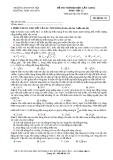 Đề thi thử đại học lần 1 năm 2014 môn Vật lí - Trường ĐH SP Hà Nội THPT chuyên - Mã đề thi 111