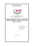 Tiểu luận nuôi trồng thủy sản: Đánh giá hiệu quả sử dụng chế phẩm sinh học trong ương cá lăng nha (mystus wyckioides)
