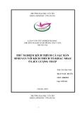 Luận văn nuôi trồng thủy sản: Thử nghiệm kích thích cá sặc rằn sinh sản với kích thích tố khác nhau ở liều lượng thấp
