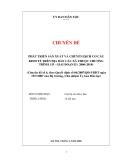 Chuyên đề: Phát triển sản xuất và chuyển dịch cơ cấu kinh tế trên địa bàn các xã thuộc chương trình 135