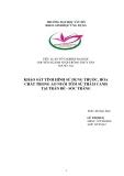 Tiểu luận nuôi trồng thủy sản: Khảo sát tình hình sử dụng thuốc, hóa chất trong ao nuôi tôm sú thâm canh tại Trần Đề - Sóc Trăng